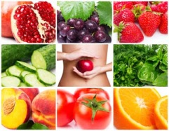 collection of healthy food